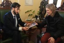 Prefeita recebe novo cônsul-geral uruguaio