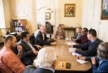 Paula se reúne com Comissão de Política Salarial