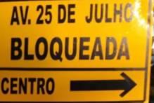 Trecho da avenida 25 de Julho será interrompido a partir de segunda-feira