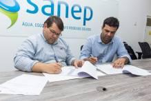 Sanep oficializa construção de rede de esgoto na Vila Jacob Brod