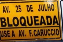 Avenida 25 de Julho terá trecho bloqueado para trânsito na quinta-feira