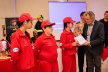 Vice-prefeito prestigia formatura do projeto Bombeiro Mirim