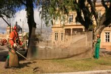 SSUI realiza manutenção da Praça para eventos de Natal