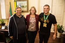 Paula recebe campeão brasileiro de Jiu-Jitsu