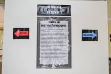 Conheça 'Museu da Destruição Nacional' no saguão do Paço