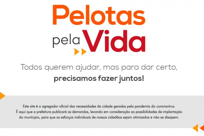 Site Pelotas Pela Vida continua a receber doações para enfrentamento à pandemia