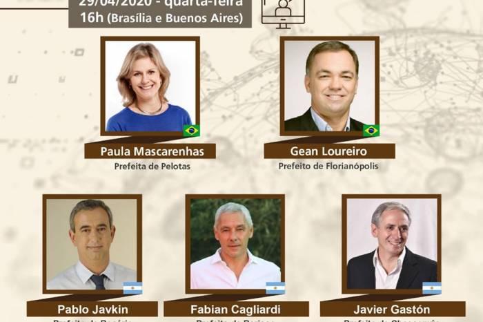 Paula participa de reunião virtual com prefeitos brasileiros e argentinos
