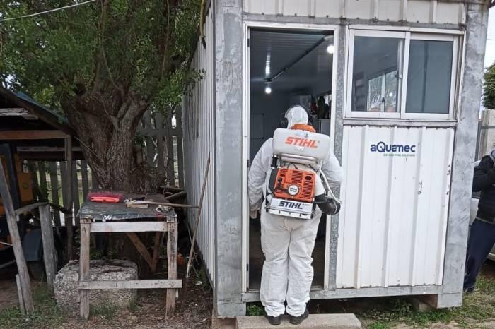 Prédios do Sanep recebem desinfecção contra Covid-19