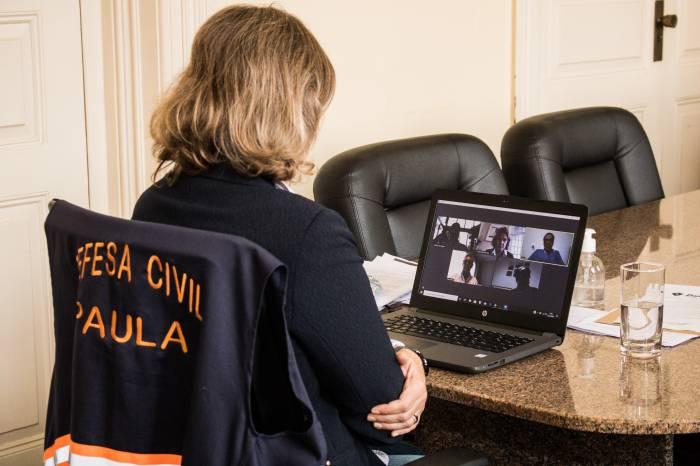 Paula realiza videoconferência com direção do Shopping Pelotas