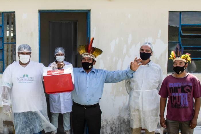 Pelotas vacina população indígena contra o coronavírus