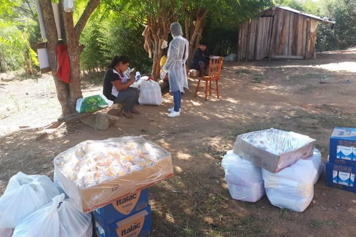 Município leva alimentos e itens de higiene a indígenas