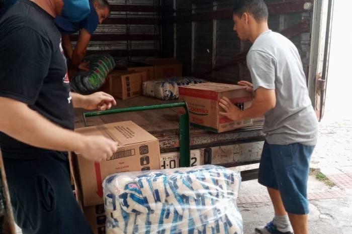 Defesa Civil recebe doação de 1,2 ton alimentos dos Supermercados Paraíso